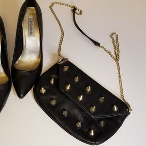 Steve Madden spike and chain purse